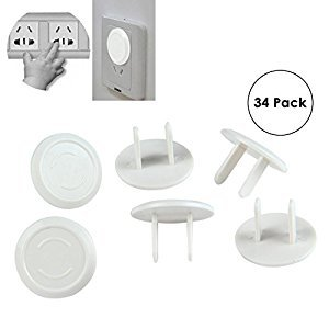 niceEshop(TM) Plug Covers,Electrical Plug Covers,Baby Safety Electrical Protector Caps Kit,34 Pack