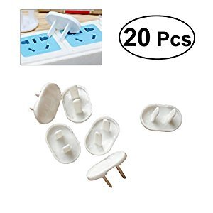 OUNONA 20pcs Children Safety Protection Power Outlet Covers Socket Electrical Leakage Protection Socket(2 Holes)