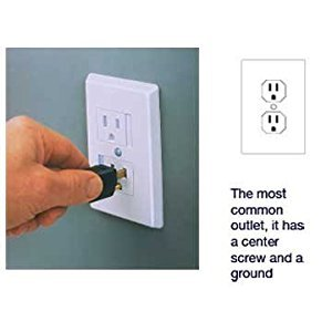 Self-closing Single Screw Outlet Covers 3-pack (White)