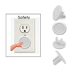 (US Plug)Outlet Plug Covers (32 Pack) Clear Child Proof Electrical Protector Safety Caps