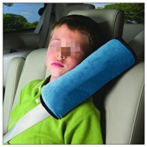 EWIN(R) Children Car Soft Seat Belt Shoulder Pad Pillow Headrest Support Pillow (Car blue)