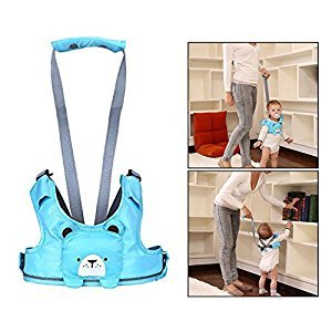 OFKPO Adjustable Toddler Safety Harness Kids Assistant Strap for 10-24 Months Baby(Blue)