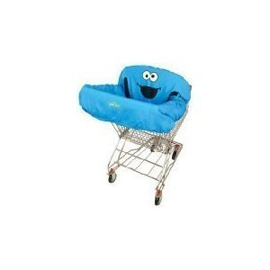 ABC Fun Pads Cookie Monster Shopping Cart Cover, Blue by ABC Fun Pads