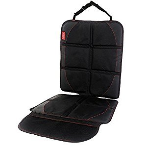 Car Seat Protector for Child & Baby Cars Seats, MATCC Auto Seat Protector with Organizer Storage Pocket, Waterproof Non-slip Car Cover Seat Protector Dog Mat Black
