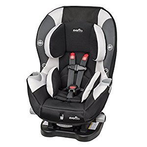 Evenflo Triumph LX Charleston Car Seat, Black/Grey/Beige