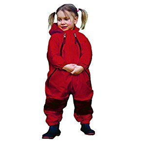 TUFFO Muddy Buddy Rain Suit, Red, 24 Months