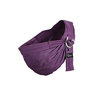 Kangaroobaby Baby Sling Ring Sling Wrap Carrier From Newborns To Todder Child (Purple)
