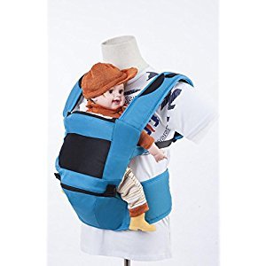 Multi-functional Children Slings Waist Stool Breathable Backpack Safety of Maternal and child products Baby Carriers , blue