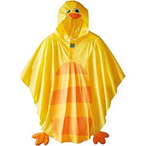 Stephen Joseph Girls Rain Poncho, Duck, 2T-6X