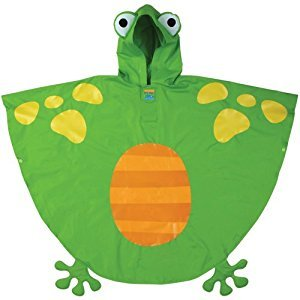 Stephen Joseph Little Boys Rain Poncho, Frog, One Size
