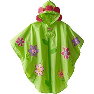 Stephen Joseph Little Girls Rain Poncho, Flower, One Size