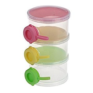 Susenstone 3 Layers Portable Infant Baby Milk Powder Dispenser Case Box Container