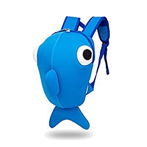Lightweight Backpack for Kids Toddler Anti-lost Cute Cartoon Whale Bags Waterproof (Blue, S)