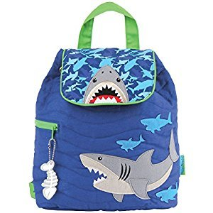 Stephen Joseph Shark Quilted Backpack, Blue, One Size, 1-Pack