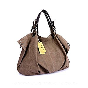 Sulida Women's Large Canvas Shoulder Bags Handbag Ladies Crossbody Totes Vintage Hobo Purse
