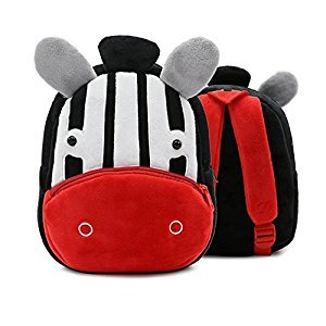 Toddler Kids Backpack Baby Boys Girls Cute Cartoon Animal Shoulder Bags for Children (Zebra)