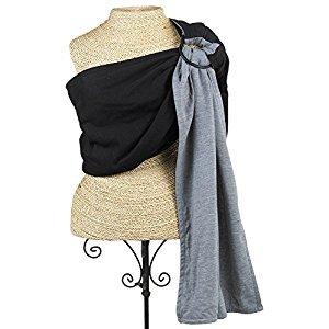 Balboa Baby Reversible Jersey Sling, Black/Grey