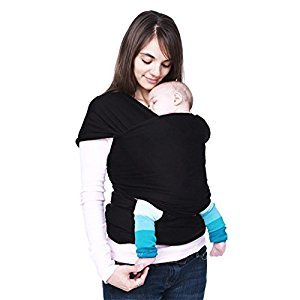 Ecloud ShopCA Black Cotton Baby Kids Toddler Sling Carrier Wrap Pouch