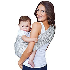 HOTSLINGS Adjustable Pouch Baby Carrier Sling, Regular, Grey, White