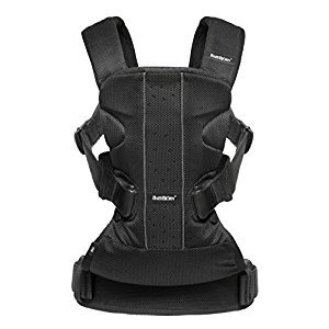 BABYBJORN Baby Carrier One Air - Black, Mesh