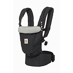 Ergobaby Adapt Award Winning Ergonomic Multi-Position Baby Carrier, Newborn to Toddler, Geo Black