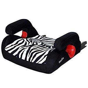 Backless Turbo Booster Safety Baby Car Seat, ISOFIX Hard Interface, Anti-Shock, Great Travel Accompany For Baby,3-12 Year Old Using,Zebra