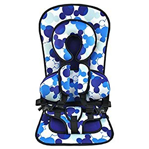 Turbo Booster Portable Safety Car Seat For Baby And Kids, Neck Guard, Seat Cusion, Five Points Protection, Free Size Of All Cars, 0-5-Year-Old-Baby Using,Blue