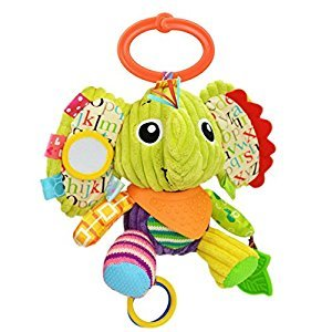 Baby Infant Rattle Animal Multifunction Appease Doll Stroller Hanging Bell Carseat Bed Toy (Elephant)