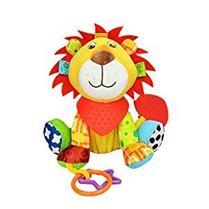 Baby Infant Rattle Animal Multifunction Appease Doll Stroller Hanging Bell Carseat Bed Toy (Lion)