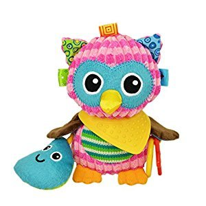 Baby Infant Rattle Animal Multifunction Appease Doll Stroller Hanging Bell Carseat Bed Toy (Owl)