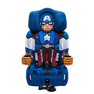 KidsEmbrace Disney Combination Toddler Harness Booster Car Seat, Marvel Captain America