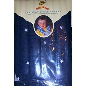 Gold Bug Baby Toddler Car Seat Strap Covers Navy with White Stars Pattern by Gold Bug