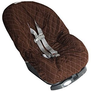 Nomie Baby Car Seat Cover, Brown/Pink, Toddler