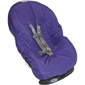 Nomie Baby Car Seat Cover, Purple