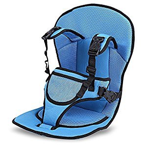 Safety Seat Portable Car Cushion Baby Car With Belt Baby Seat Belt Blue