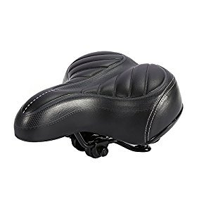 Bike Saddles,ZJchao Outdoor Mountain MTB Road Bike Wide Big Bum Bicycle Cushion Pad Gel Cruiser Comfort Sporty Soft Pad Saddle Seat