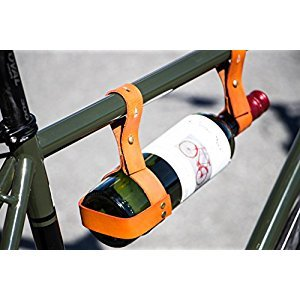 Locally Made Genuine Leather Wine Holder for Bicycles