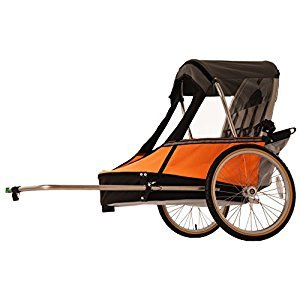 Wike Moonlite Bicycle Trailer - Orange/Gray