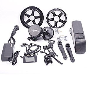Bafang 48V 750W C961 BBS02 Mid Crank Drive Motor Ebike Kit+48V 11.6Ah Lithium Ion Bottle Ebike Battery