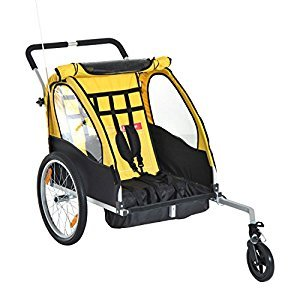Christmas Sale 2-in-1 Kids Bicycle Trailer Child Carrier Camp Weather Shield