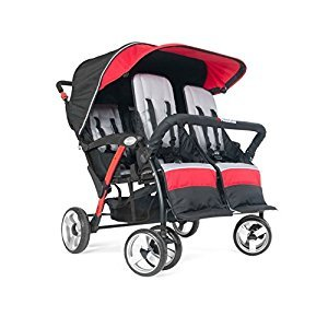 Foundations The Quad Sport 4-Passenger Sport Stroller - Red