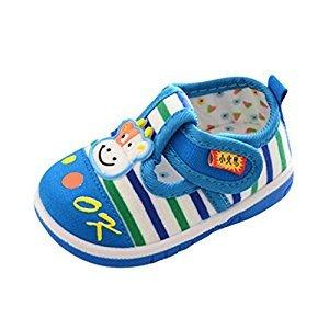 Baby Shoes, Perman Baby Boys Girls Soft Sole Prewalker Sandals First Walker Anti-Slip Toddler Shoes (18-24Months, Blue)