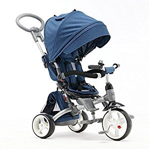 Children tricycle, Baby bike Children's bike Baby trolley Stroller 1170 * 520 * 1045mm ( Color : Blue )
