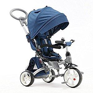 Children tricycle, Baby bike Children's bike Baby trolley Stroller 1170 * 520 * 1045mm ( Color : Blue )