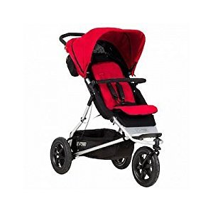 Mountain Buggy 2015 Plus One Inline Double Stroller with Second Seat, Berry
