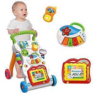 ADSRO 9-in-1 Baby Walker Cart Toy 1-3 Year Old Walkers Baby / Activities Walkers / Pram / Learning Walkers / Cart Toys