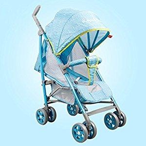 Baby Stroller Lightweight Portable Portable Stroller (Pink) (Blue) (Violet) 69 * 53 * 104cm ( Color : Blue )