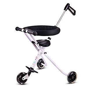 Baby Stroller Simple cart for children Three wheeled cart Aluminum alloy folding baby carriage Light weight Can fly by plane Suitable for 3-8 year old