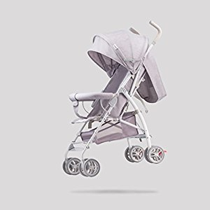 Baby Stroller Stroller Ultra Light Portable Folding Child Umbrella Seats Can Lie On Removable And Washable Carts, Light Grey, 57*44*88cm