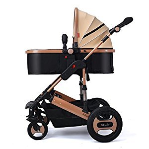 New Lightweight Stroller Children's Stroller Shock Stroller Seat Reclining High Landscape Baby Stroller Fashion Stainless Steel Frame